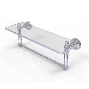 Dottingham glass shelf with towel bar