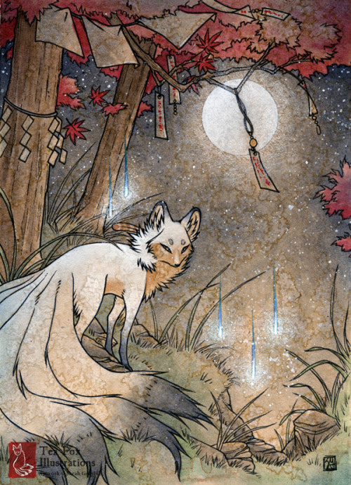 Image result for foxes in fall equinox art