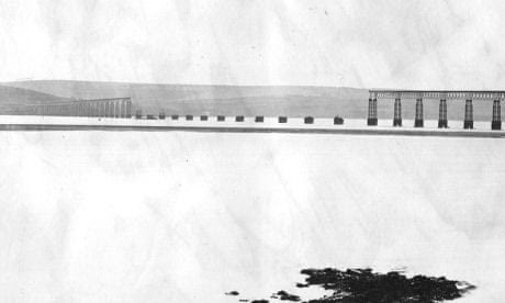 The collapsed Tay Bridge