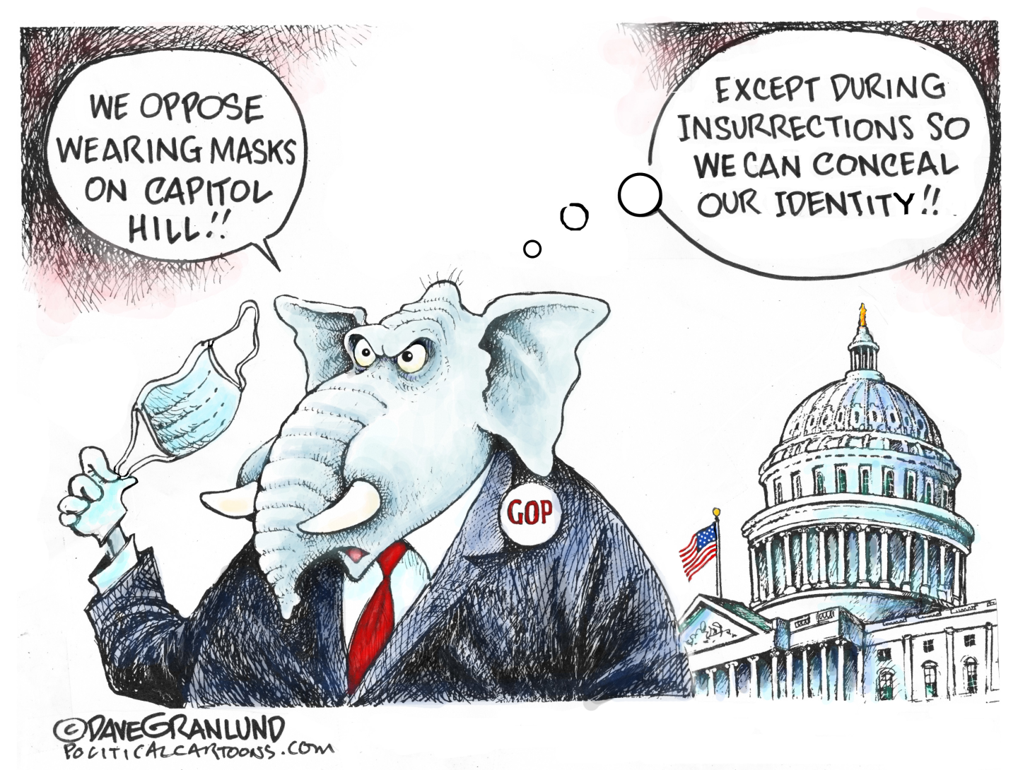 GOP and Capitol Hill masks