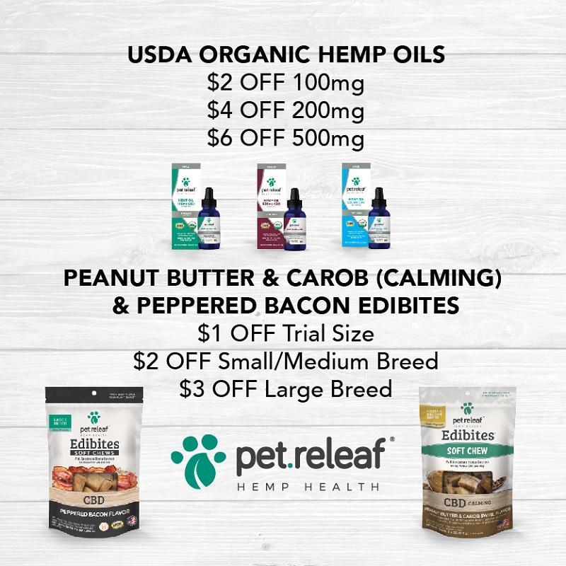 This month get dollars OFF on Calming Edibites and Organic Hemp Oils.