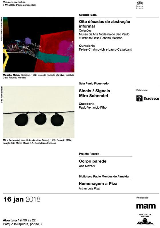 Abertura das exposições no MAM16 de janeiro 19h30 – 22hParque Ibirapuera