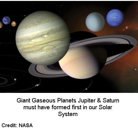 Jupiter & Saturn formed first
