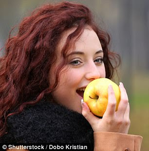 In one study, eating an apple before lunch resulted in the volunteers feeling satisfied with 15 per cent less food
