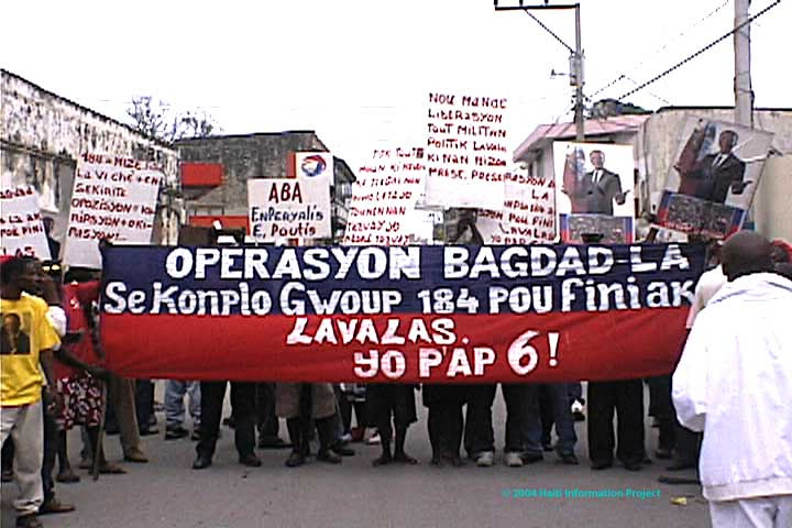 Image result for aristide demonstration haiti photos
