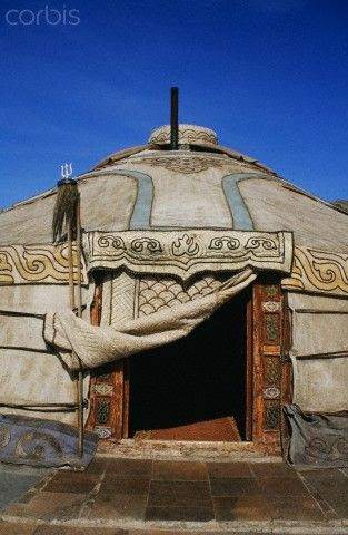 A yurt: