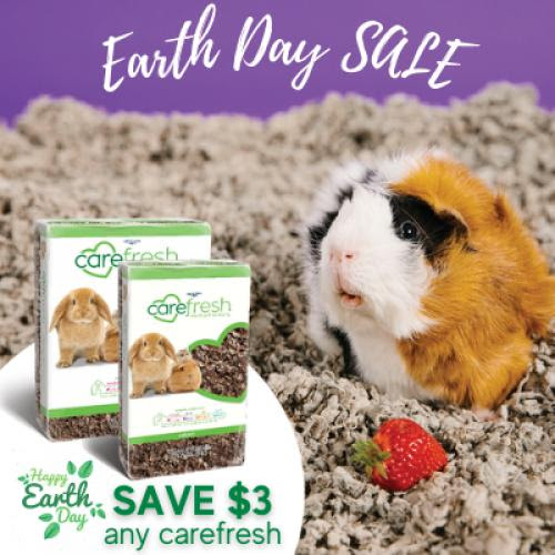 Carefresh bedding is $3 OFF on any size package.