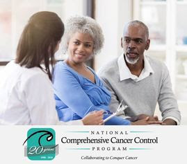 senior couple speaking with doctor