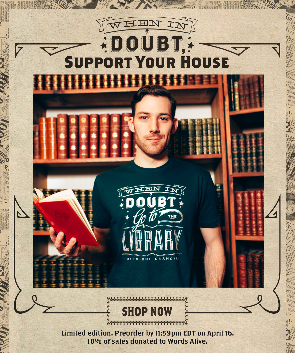 When In Doubt house colors t-shirt