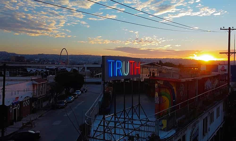 Why an artist took over a billboard at the US-Mexico border