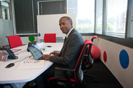 David Drummond, who leads corporate development and investment initiatives at Alphabet, working in Google's offices in Washington in 2013. Mr. Drummond stepped down from Uber's board as the two tech giants' agendas increasingly overlap.