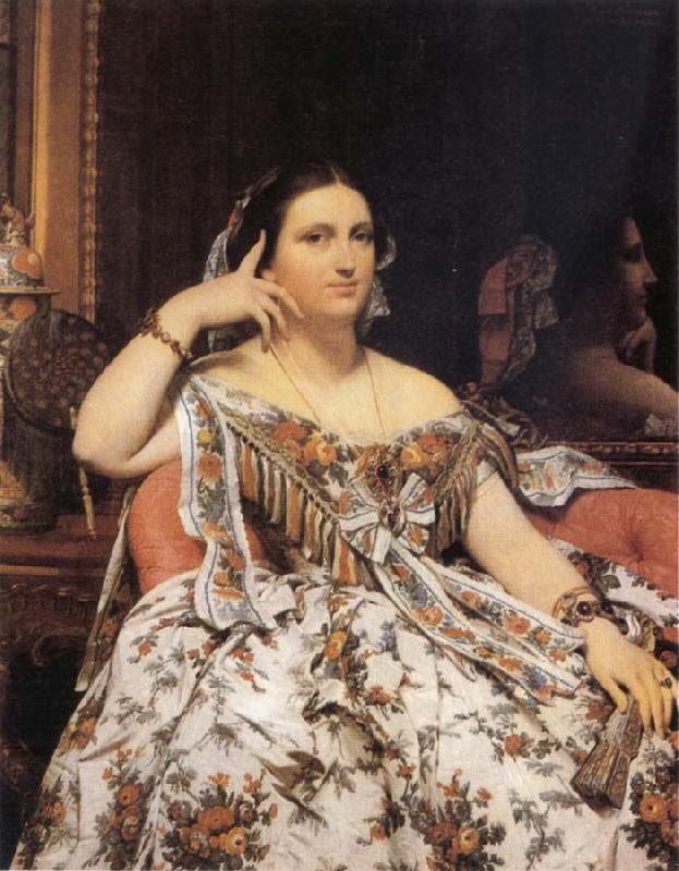 Jean-Auguste Dominique Ingres Madame Motessier Seated France oil painting art