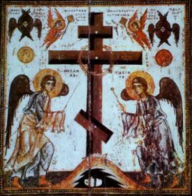 Aniołowie adorujący Krzyż