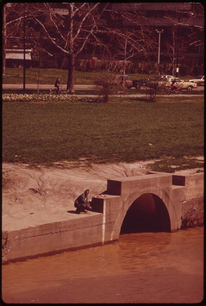 Raw Sewage Flows Into The Potomac At Georgetown Gap, April 1973 | by The U.S. National Archives