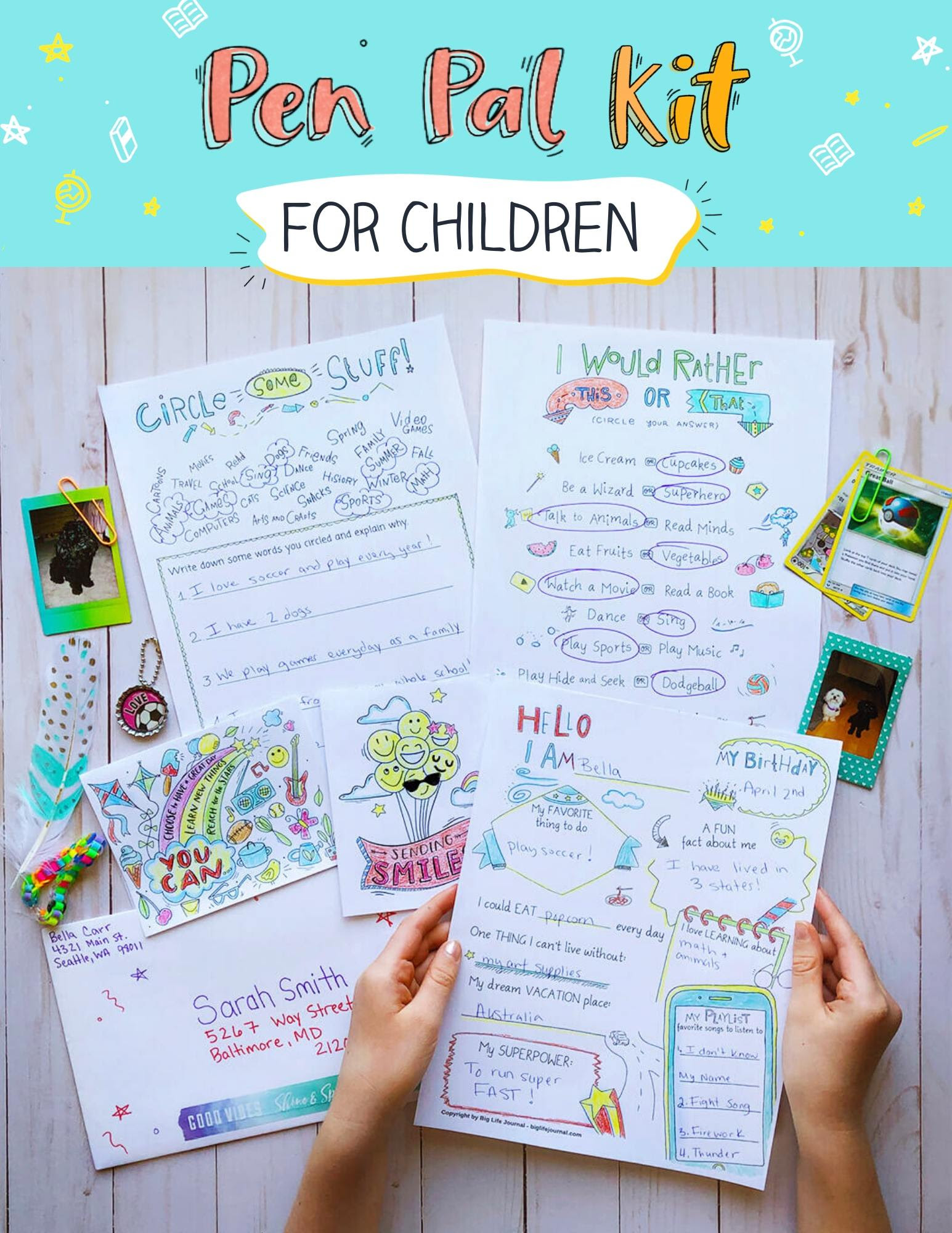 Pen Pal Kit for Children
