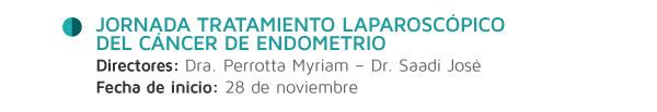 Jornada Tratamiento Laparoscópico del Cáncer de Endometrio
