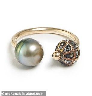 Caviar and South Sea Pearl Ring, $995; mckenzieliautaud.com