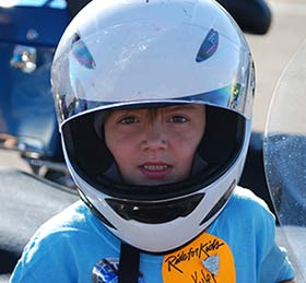 Brain tumor survivor Kyler at 2013 Utah Ride for Kids