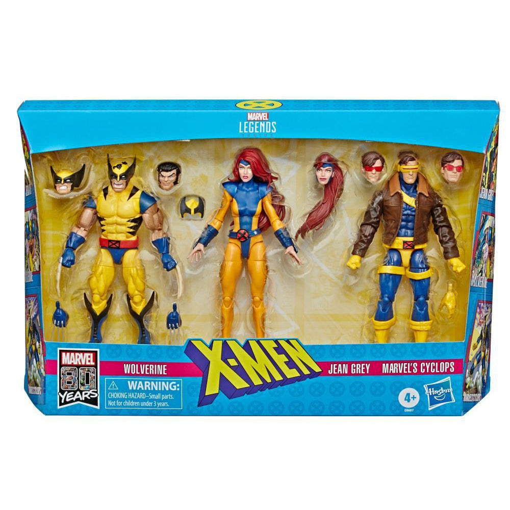 Image of Marvel Legends X-Men Jean Grey, Cyclops, and Wolverine 6-Inch Action Figure 3-Pack