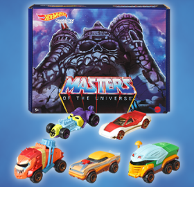 Masters of the Universe Hot Wheels Character Car Five-Pack