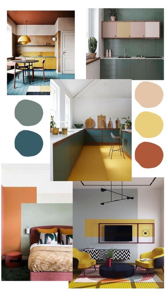 Paleta de colores combinada para crear espacios con personalidad. Cómo combinar colores en decoración. Combinación de colores en decoración #decor #decoraciondeinteriores #ideasdedecoracion