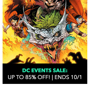 DC Events Sale: up to 85% off! Sale ends 10/1.