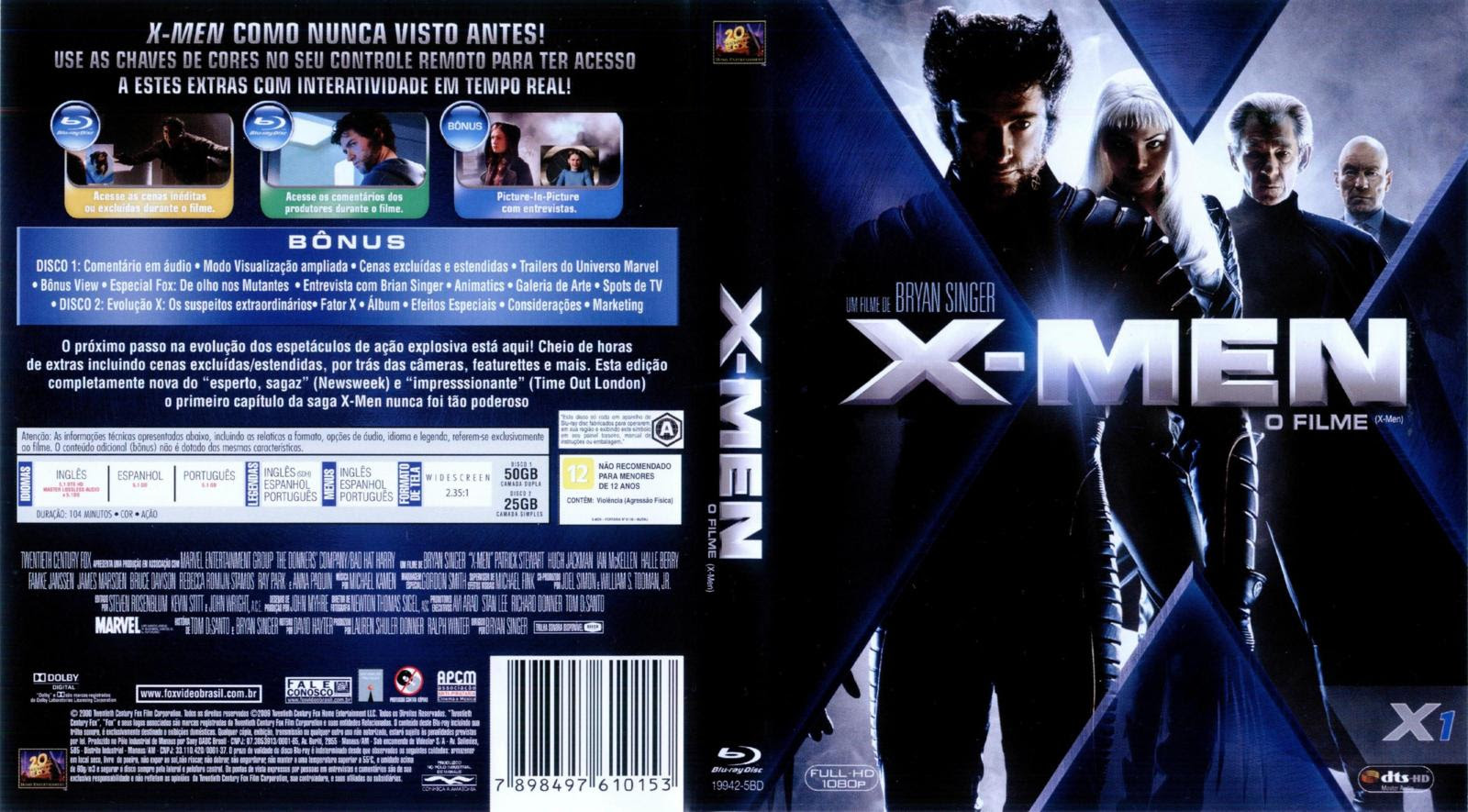 4FZravb X Men: O Filme Torrent BluRay Rip 720p e 1080p   Dublado (2000)