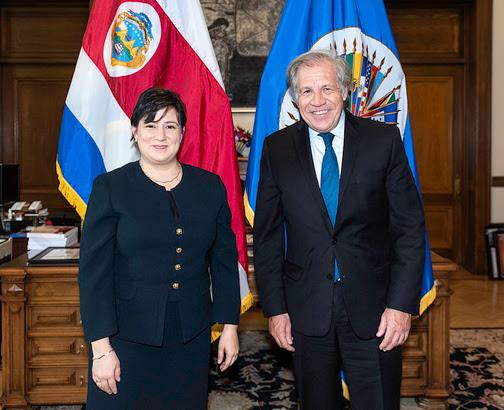 Nueva Representante de Costa Rica ante la OEA presentó credenciales al Secretario General Almagro