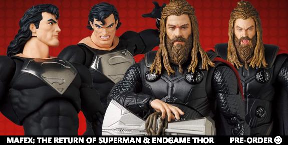 MAFEX: The Return of Superman & Endgame Thor