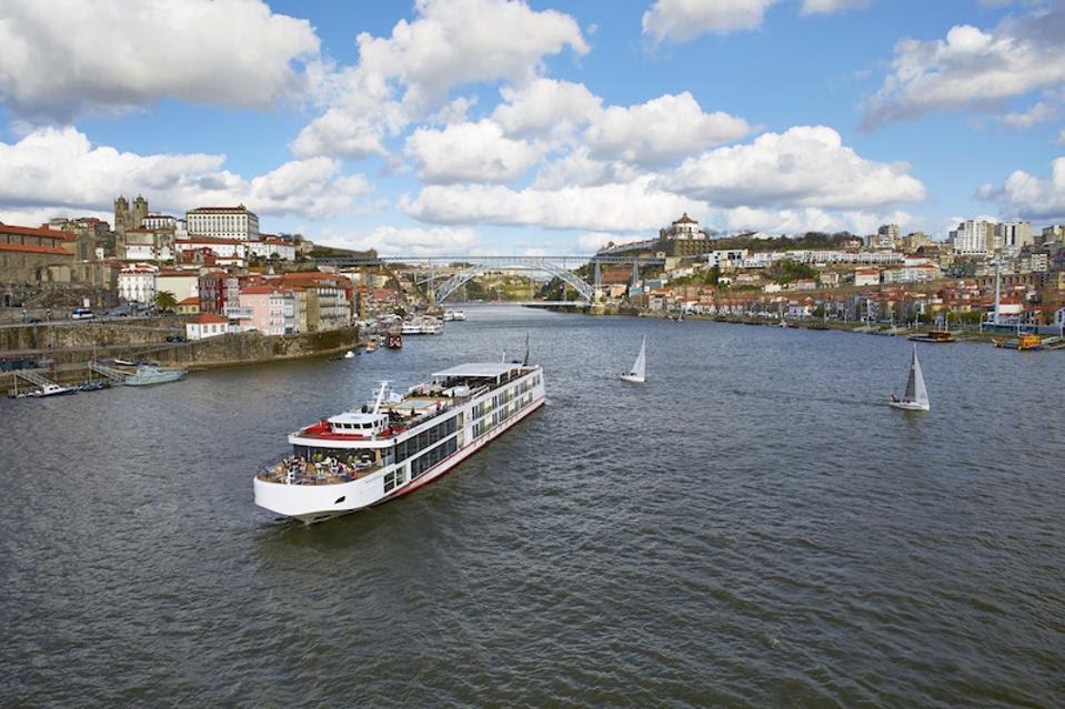 A Viking longship on the Douro River in Porto, Portugal (Credit: Viking)