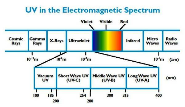 УФ в электромагнитном спектре