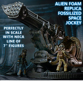 ALIEN FOSSILIZED SPACE JOCKEY FOAM REPLICA