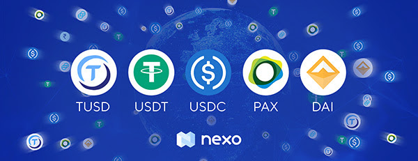Еarn 6.5% on DAI, PAX, USDC, USDT and TUSD with Nexo