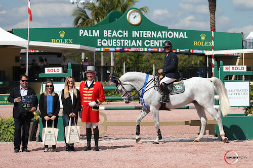 Samuel Parot and Dazzle White in their winning presentation with Rodolfo Maya, Waverly Ernst, and Avery Hogan from the Maya Group at Illustrated Properties.