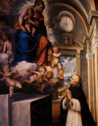 Święty Jacek rozmawia z Matką Bożą