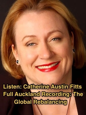 Catherine Austin Fitts in Auckland