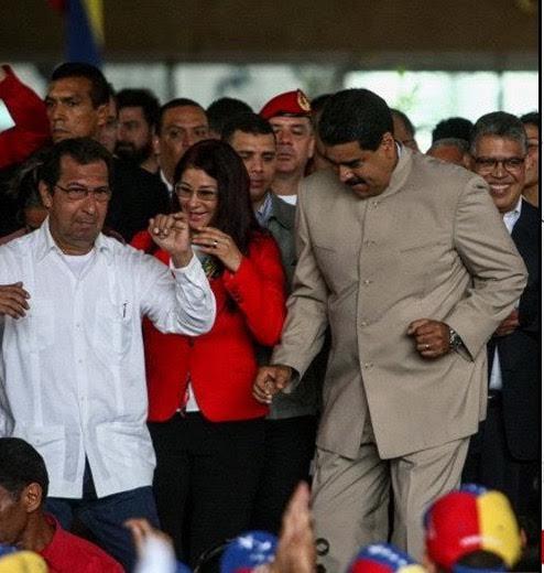 Adan y Maduro bailan 1