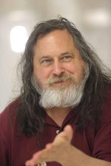 Richard Stallman, en un momento de la entrevista.