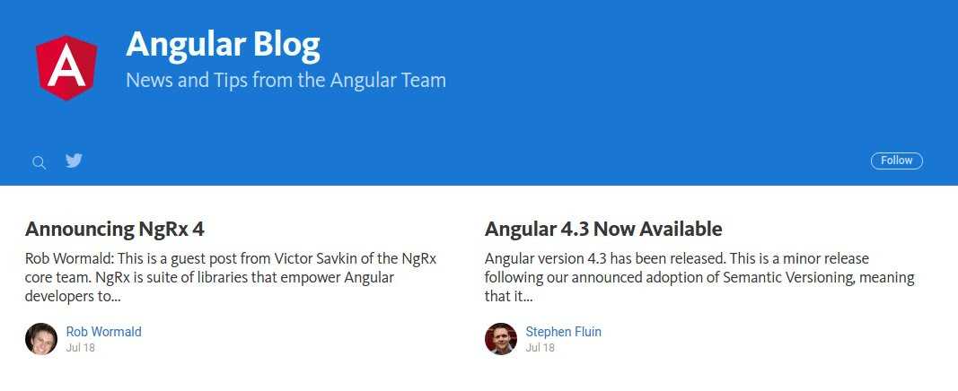 We moved the #Angular Blog, check us out and follow us at  to stay up to date