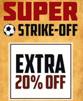 20% off on Products with Football symbol