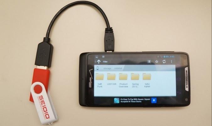 connecter android à un lecteur flash via otg