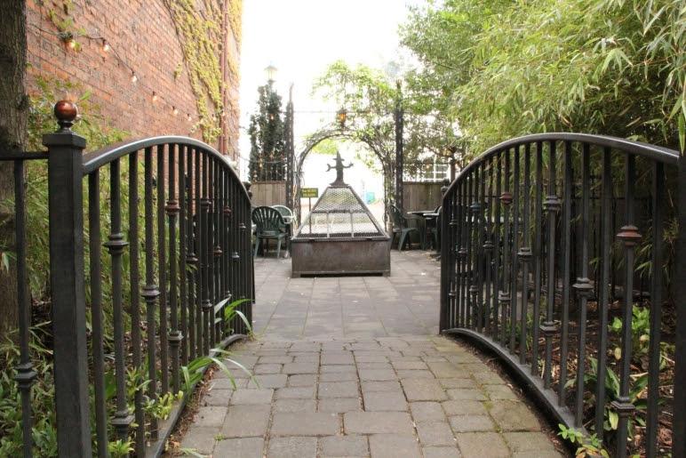 Entrance to White Eagle patio