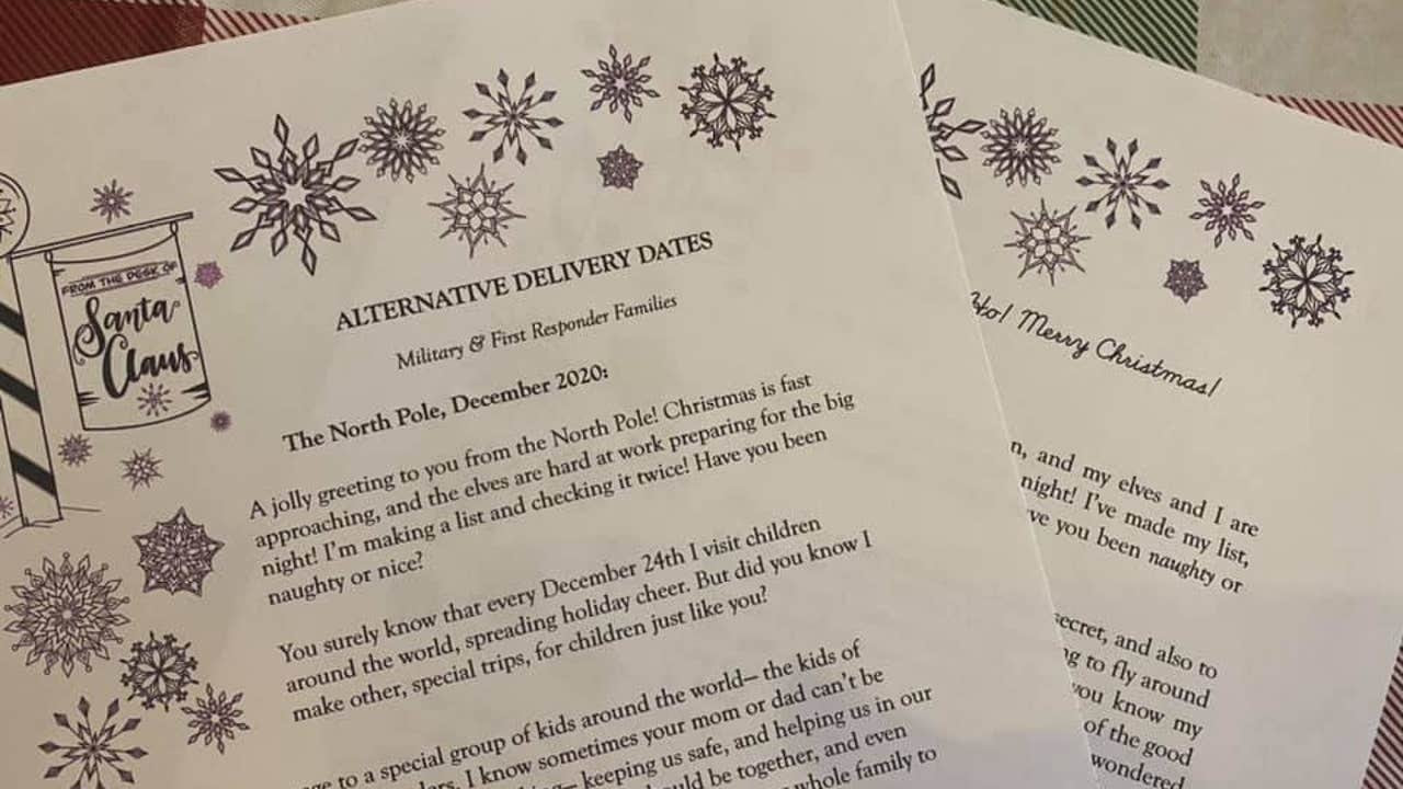 A Texas mom helps deliver special letters from Santa