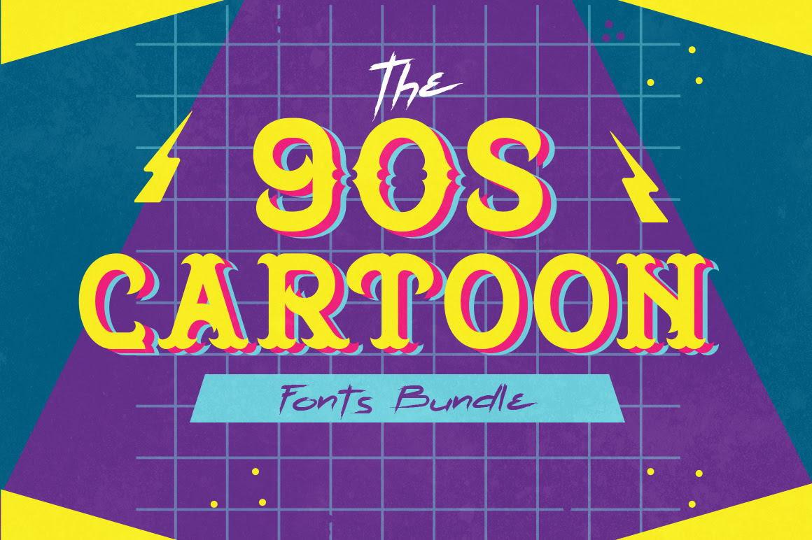 The 90's Cartoon Fonts Bundle ixelo Discount Coupon