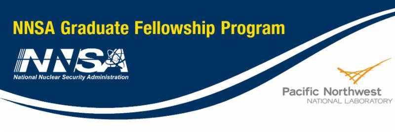 NNSA Graduate Fellowship Program header