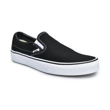 Vans U Classic Slip-on Sepatu Sneakers Pria - Black [2 VN000EYEBLK]