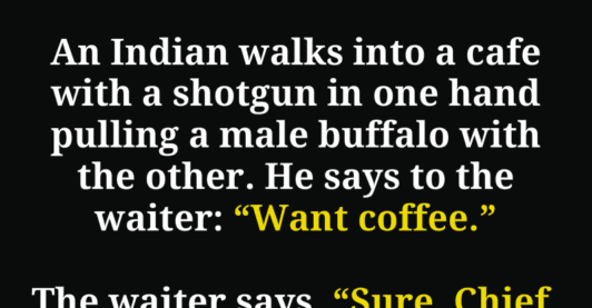 This Indian Walks Into A Cafe With A SHOTGUN And A Buffalo, NO ONE Expected What Happened Next!