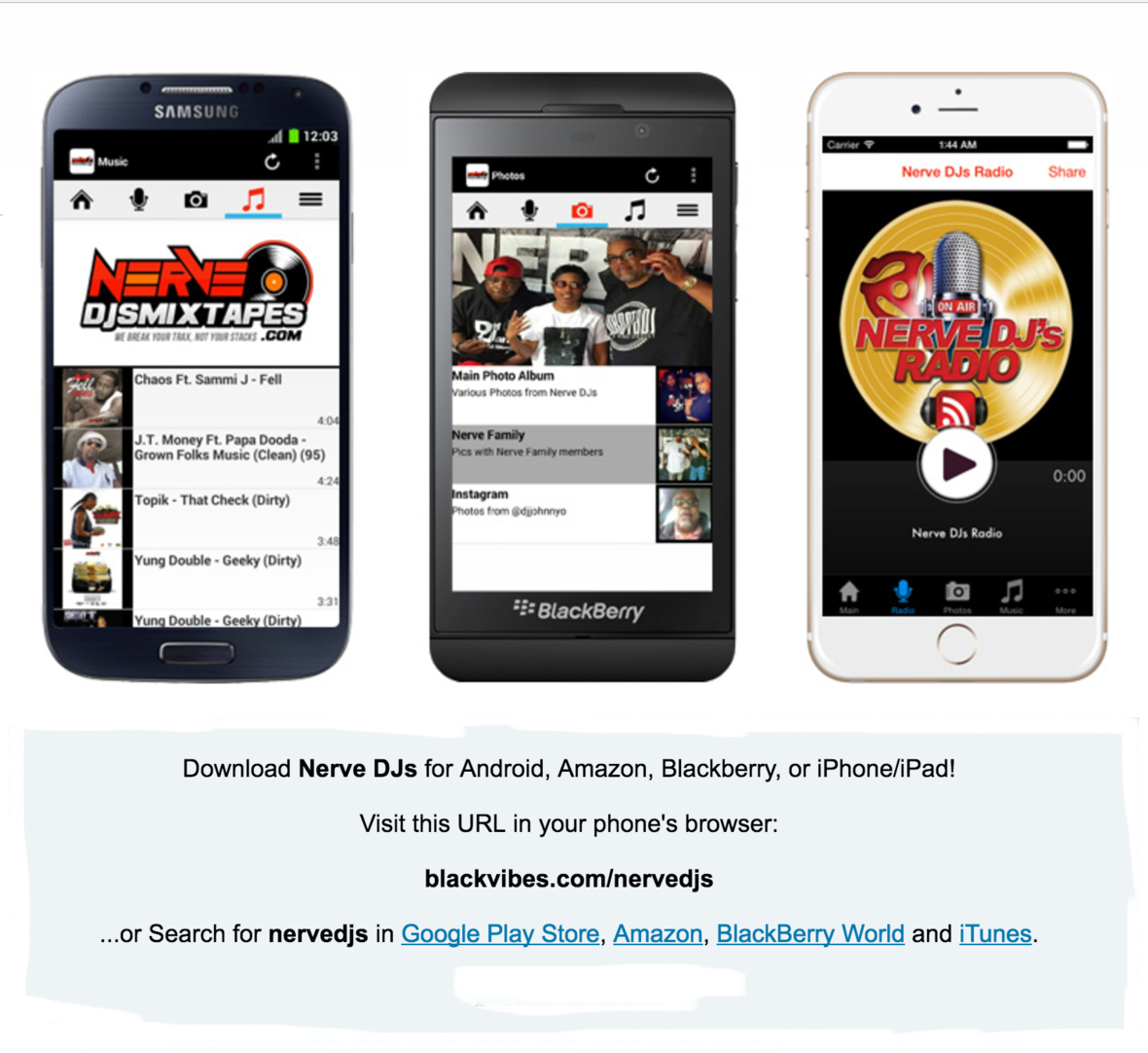 Download The Nerve Djs App Promo