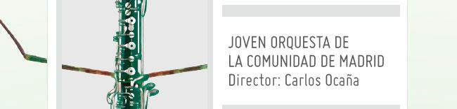 Joven orquesta de la comunidad de Madrid. Director: Carlos Ocaña