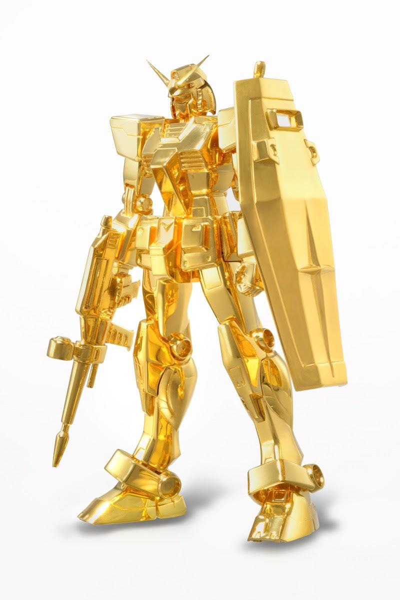 gundam ouro maciço
